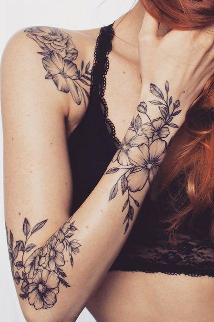 female arm tattoos