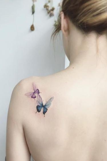 Small Back Shoulder Tattoos for girls