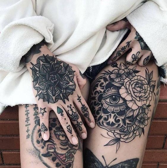 pretty hand tattoos