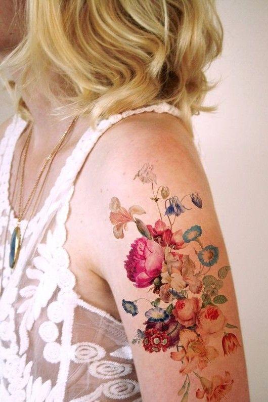 beautiful follower tattoo on arm for females