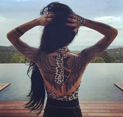 beautiful back tattoos