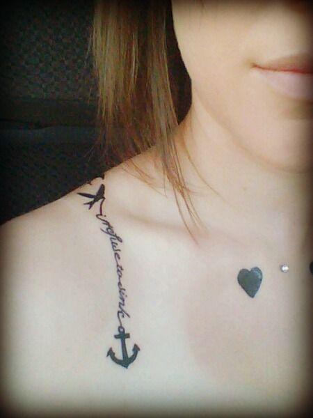 female front shoulder tattoos love designs