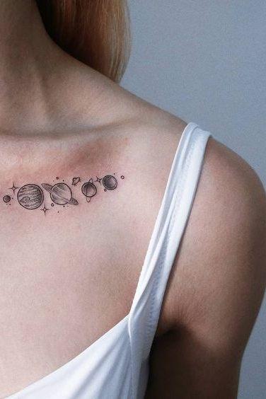 female front shoulder tattoos