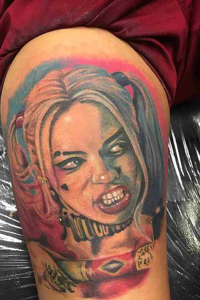harley quinn pin up tattoo