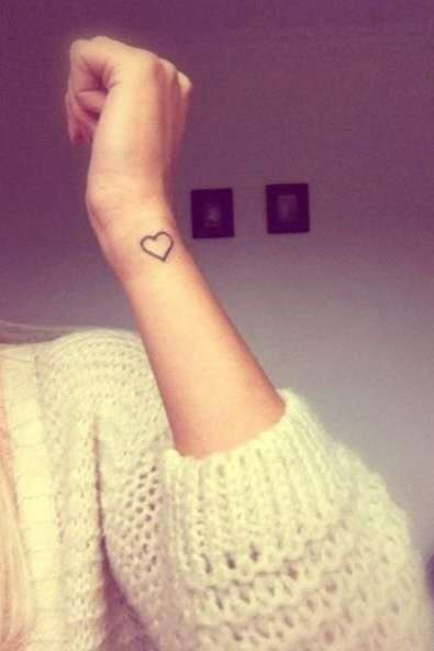 heart tattoo on wrist for females