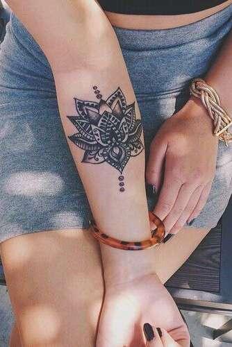 henna wrist tattoo for women for girls