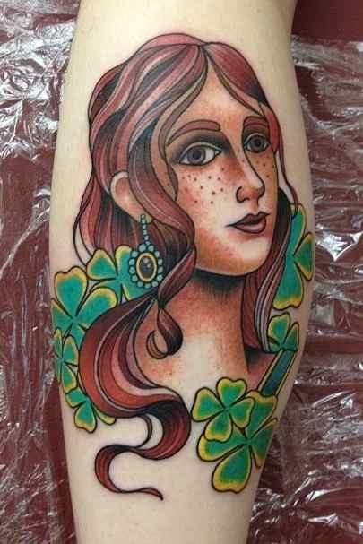 irish pin up girl tattoos