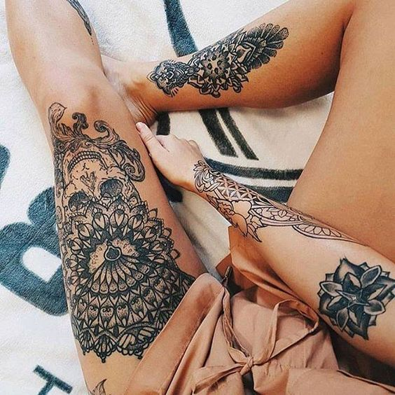 leg tattoo for girl