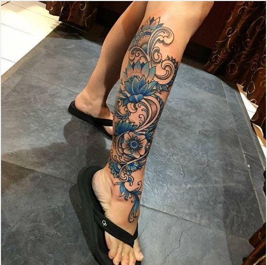 female leg tattoos designs