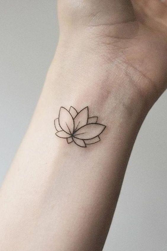 lotus flower tattoo wrist for girls
