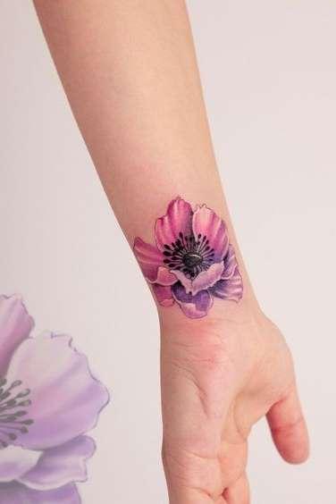 lotus flower tattoo wrist