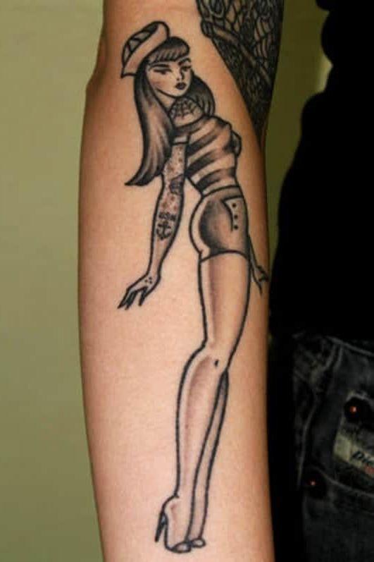 sailor jerry pin up girl Tattoo