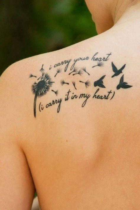 small back shoulder tattoos for females