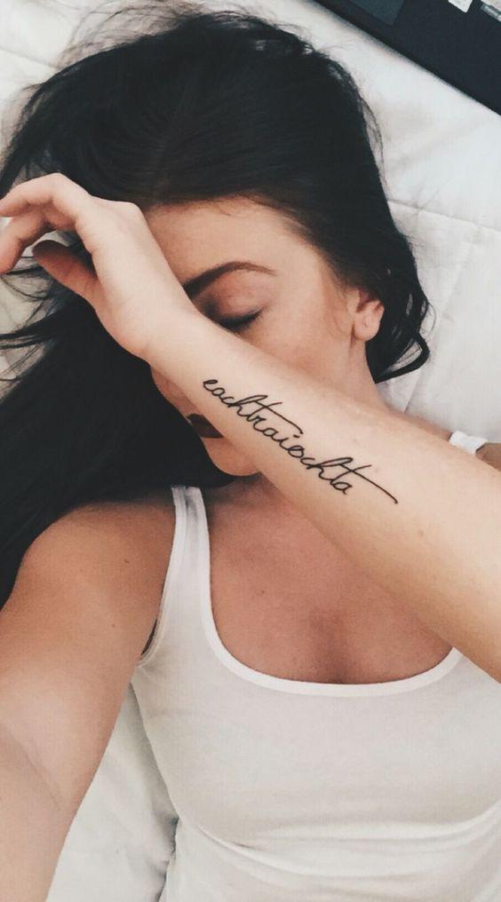 side wrist tattoo for women