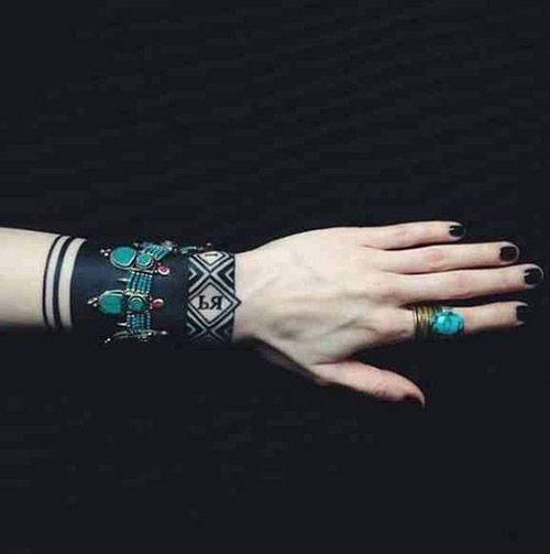 wristband tattoo for girls