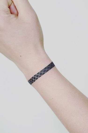 small wristband tattoo for girls