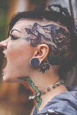 wolf Head tattoos for women