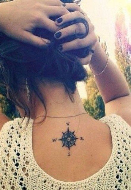 compass tattoo for females