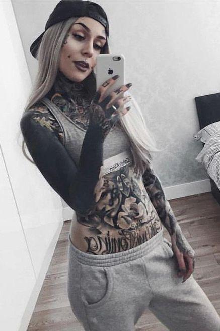 Full Body Tattoos Girl