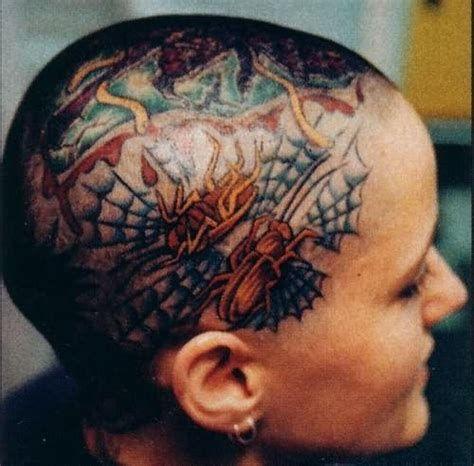 unique head tattoo
