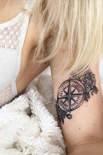 compass tattoo for girls