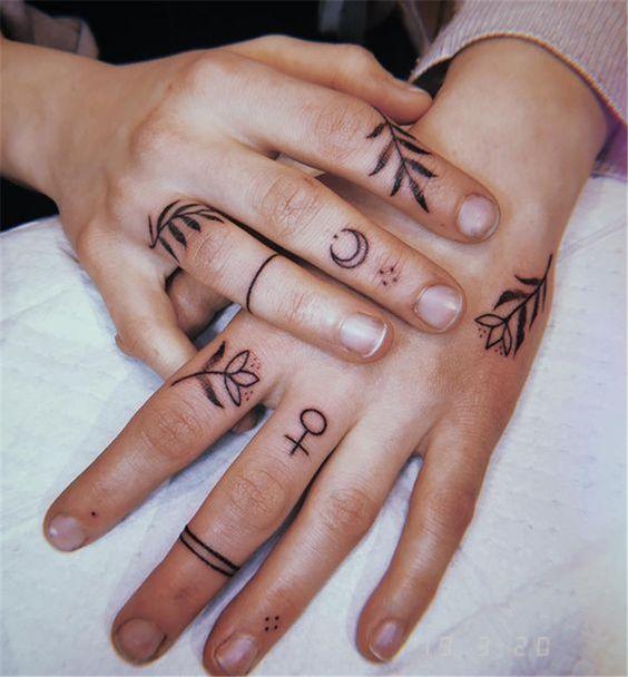 Finger tattoos for females