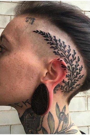 flower head tattoos