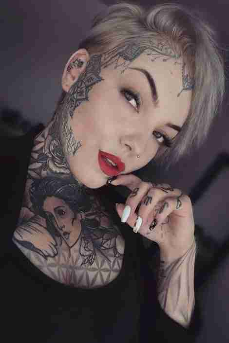cute tattoos on face for girls