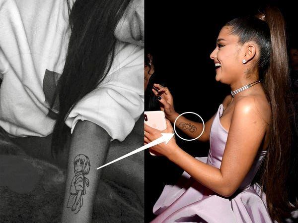 ariana grande tattoos evee on arm
