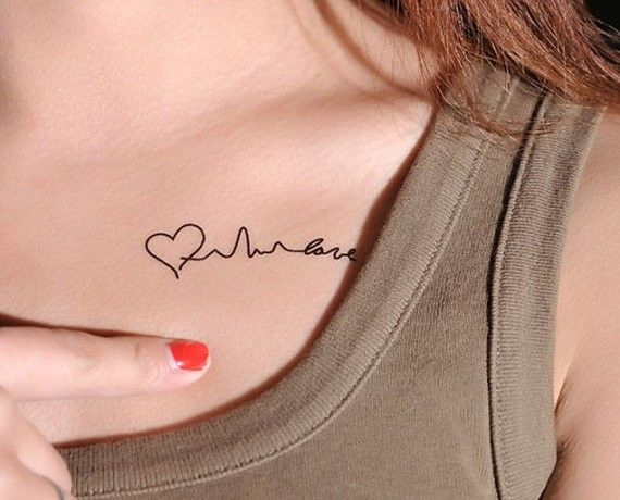 name tattoo on chest for Girls