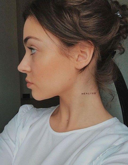 name tattoo on neck