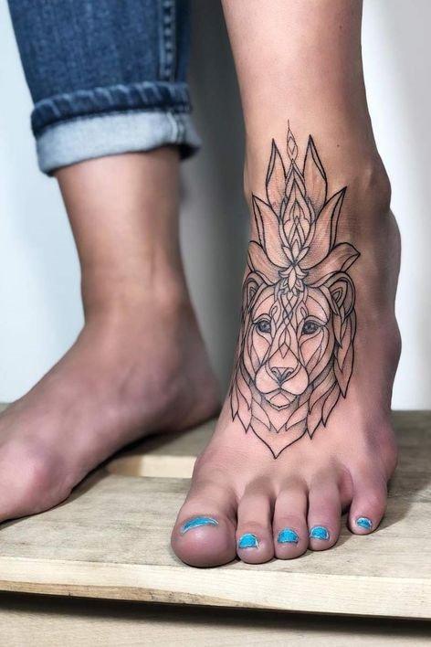 Lion Tattoo ideas on Foot