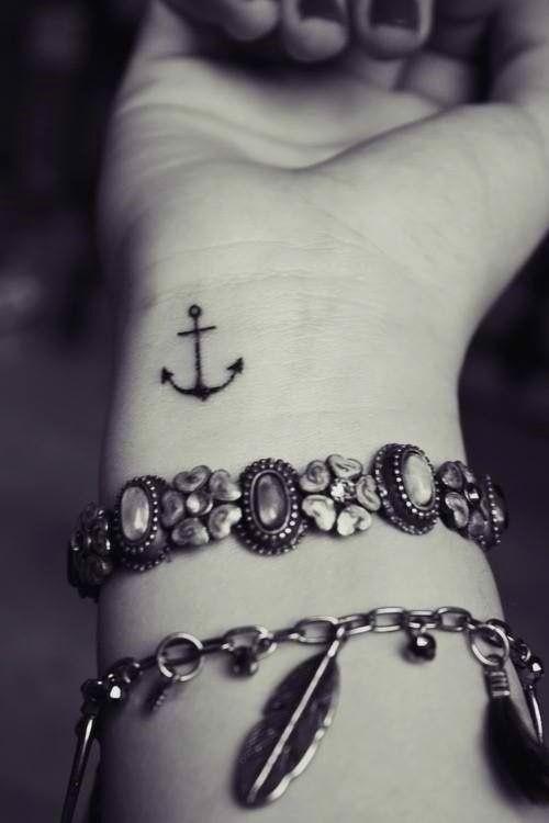 anchor tattoo on wrist
