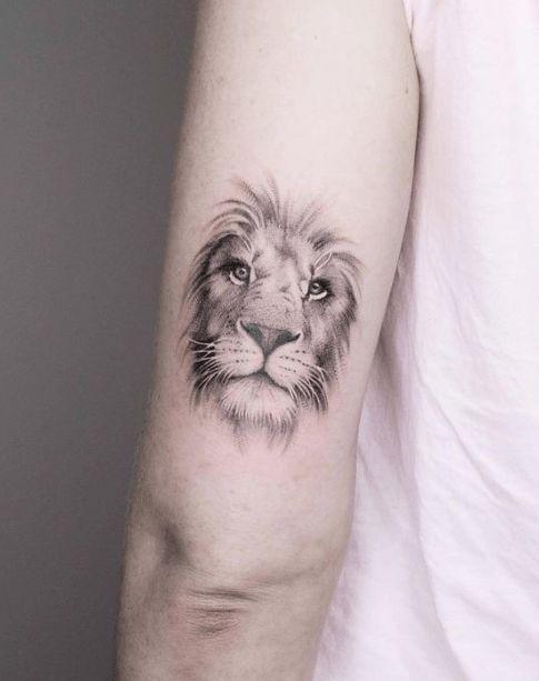 Lion Tattoo on Arm BackSide