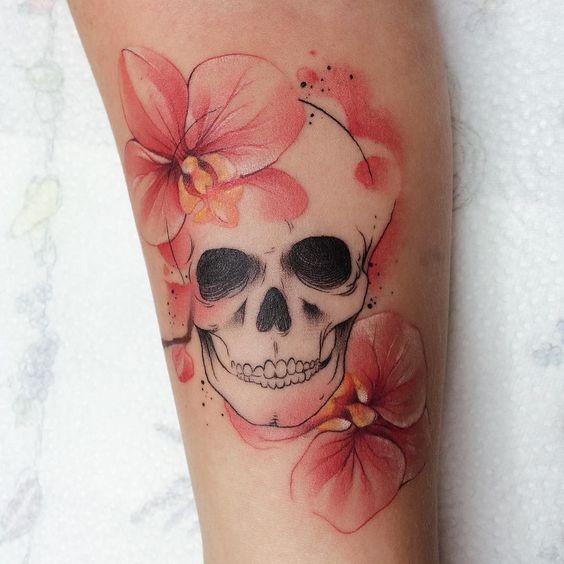 skull tattoo on sleeve