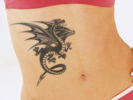 stomach dragon tattoo