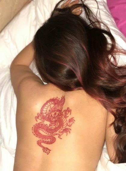 back red dragon tattoo
