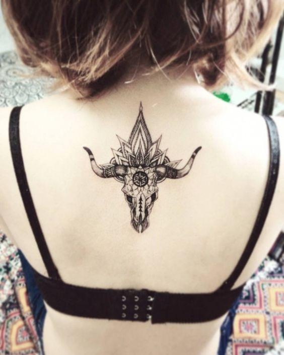 Taurus Tattoo on Back
