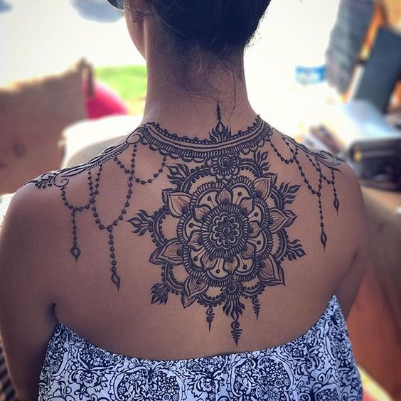henna designs on back