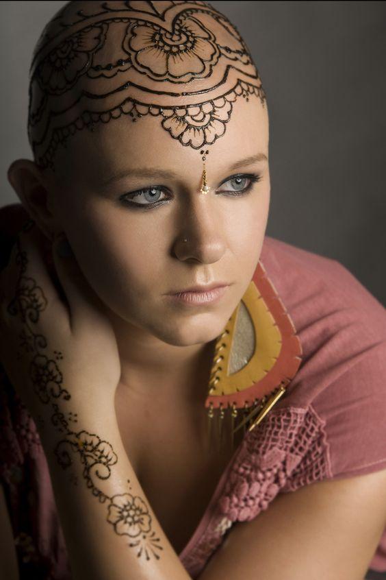 henna cute tattoo designs on head