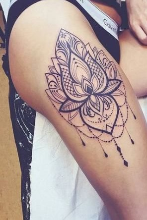 Mandala Tattoo on Thigh