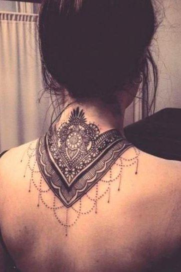 Mandala Tattoo back neck