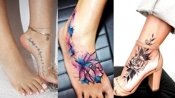 Foot tattoos for girls thumbnail