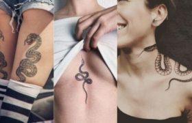 Snake Tattoos for Girls Thumbnail