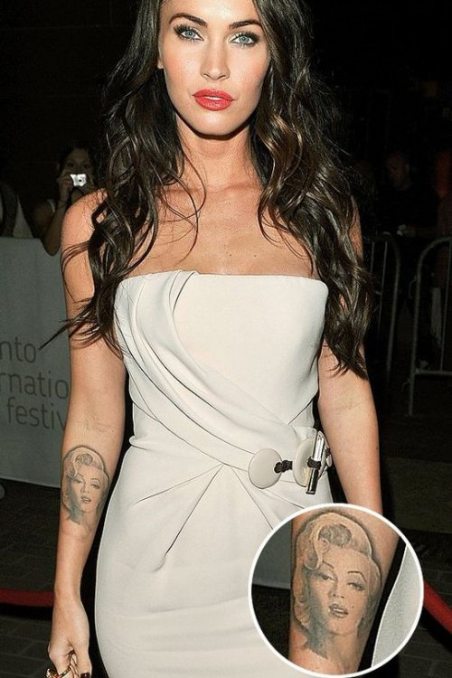 Megan Fox Tattoo on forearm