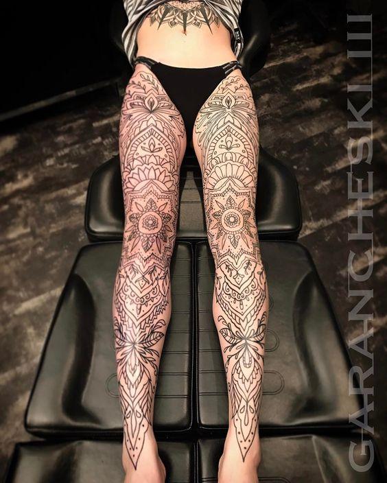 Beautiful leg tattoos