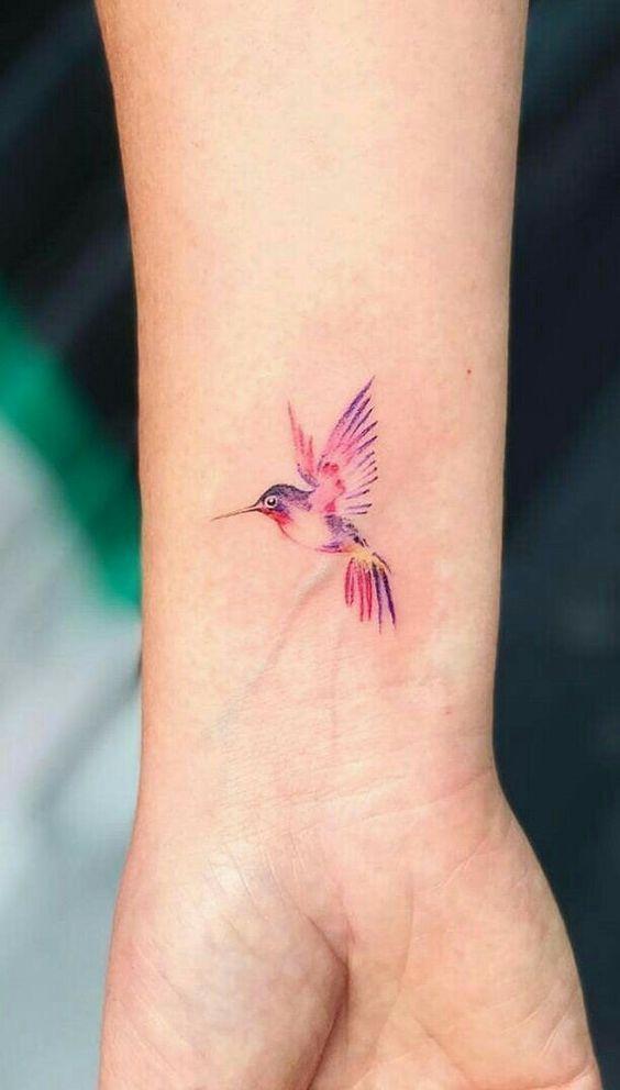 bird tattoos for women on wrist