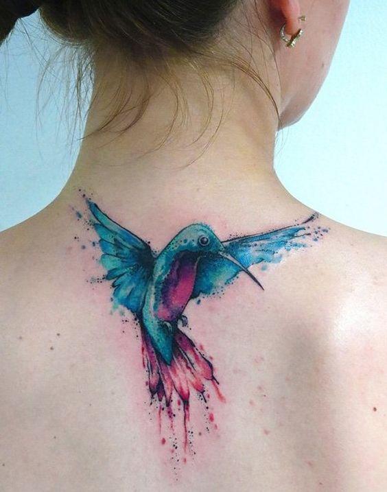 bird tattoos for women on back