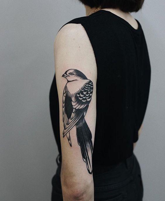 bird tattoos for women on arm
