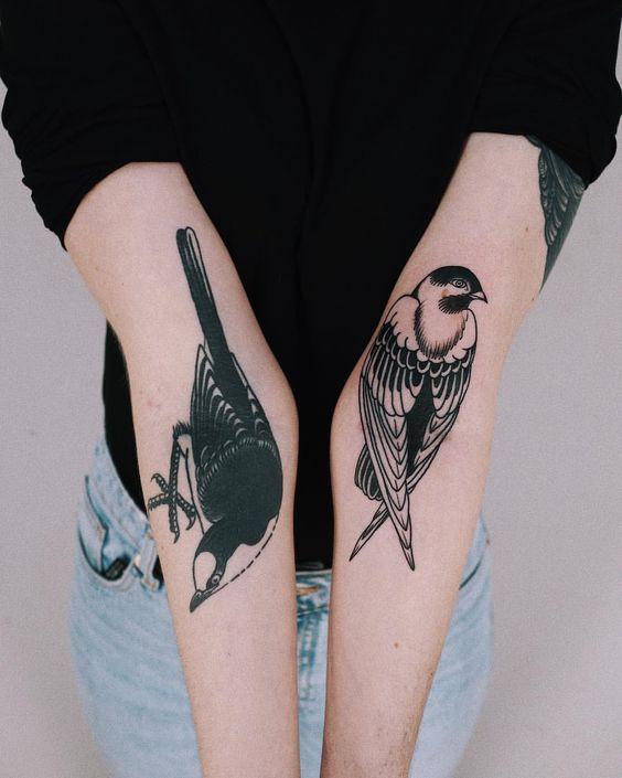 bird tattoos for women on hand